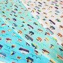 【Wガーゼ】船柄男の子 生地 布 布地 ガーゼ マスク 110cm幅 綿100% ※50cm単位でカット