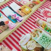 【シーチング】お菓子の棚綿100%約110cm巾布インクジェットプリントリアル