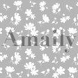 【メール便対応】Amaily(アメイリー)花シルエット 白【ネイルアート、ネイルシール】【コスメ&ドラッグNY】0824楽天カード分割