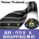 ヴィヴィアン ウエストウッド ネクタイ(8.5cm幅) VW6 【Vivienne Westwood・ヴィヴィアンネクタイ・ネクタイ ブランド】 ヴィヴィアンウエストウッド ネクタイ グレー/ダークグレー【送料無料】