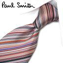 ポールスミス ネクタイ PS4マルチ(FLU62-20) ピンク/グレー系マルチストライプ 8cm幅 【Paul Smith・ポールスミスネクタイ・ネクタイ ブランド】【送料無料】【父の日 プレゼント】・・・