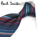 ポールスミス ネクタイ(8cm幅) PS6 【Paul Smith・ポールスミスネクタイ】【ネクタイ ブランド・ブランドネクタイ】  ネイビー/レッド系マルチストライプ【送料無料】