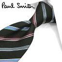 ポールスミス ネクタイ PS76 ブラック/マルチカラー 8cm幅 【Paul Smith・ポールスミスネクタイ・ネクタイ ブランド】【送料無料】