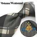 ヴィヴィアン ウエストウッド ネクタイ(8.5cm幅) VW34 【Vivienne Westwood・ヴィヴィアンネクタイ・ネクタイ ブランド】 ヴィヴィアンウエストウッド ネクタイ グレー/ダークグレー【送料無料】