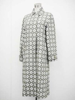 Louis Vuitton Womens long coat 36 khaki series x white fs3gm