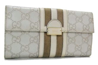 Gucci TREASURE (treasure) guccissima W hook length wallet ivory 150674 fs3gm