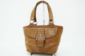 Coach SOHO leather tote bag Brown 9637? s support.""
