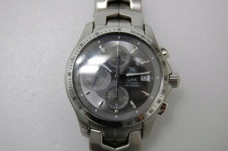 Tag Heuer link chronograph calibre 16 グレーダイヤル automatic (self-winding) mens watch CJF2115 fs3gm