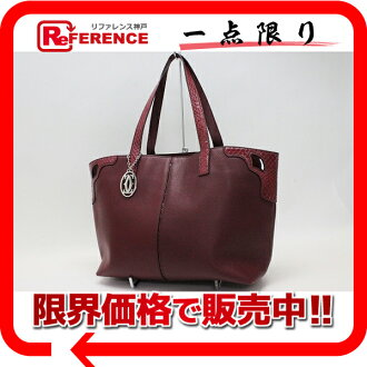 "Cartier Marcello de Cartier Tote MM red L1001560 ""response.""-fs3gm"