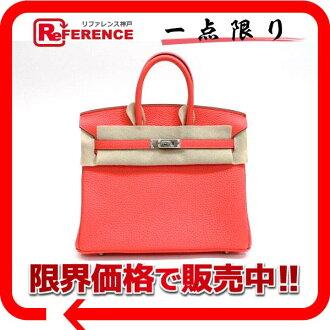 Hermes handbags HERMES Birkin 25 there rose lipstick silver bracket Q ever-new