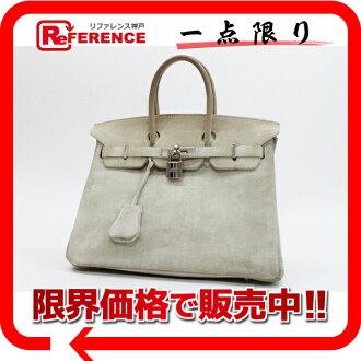 HERMES Hermes Birkin 25 handbags vorbeloadbris ivory series silver bracket H engraved 0601 Rakuten card Division