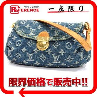 """Used LOUIS VUITTON Louis Vuitton Monogram Denim """"minipretty"""" shoulder bag blue M95050"""