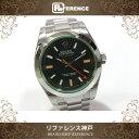 ROLEX ロレックス ミルガウス グリーンガラス メンズ腕時計 SS 自動巻き 116400GV ランダムシリアル ルーレット刻印 未使用【中古】