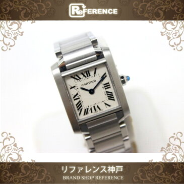 Cartier カルティエ タンクフランセーズSM レディース腕時計 SS クオーツ W51008Q3 【中古】