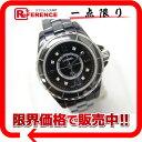 CHANEL シャネル J12 レディース腕時計 8Pダイヤモンドインデックス クオーツ ブラックセラミック H2569 【中古】 KK シャネル J12 ダイヤ レディース腕時計