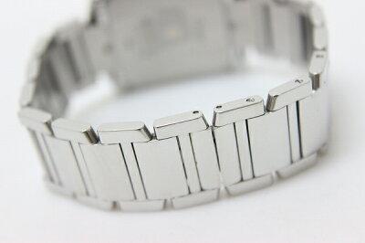 CartierカルティエタンクフランセーズLMクロノリフレックスメンズ腕時計アフターダイヤベゼルSSクオーツW51001Q3ジャンク品【】