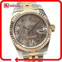 ROLEX ロレックス 179171 デイトジャスト ロータスフラワー VIダイヤ 腕時計 SS/ピンクゴールド レディース 新品同様【中古】