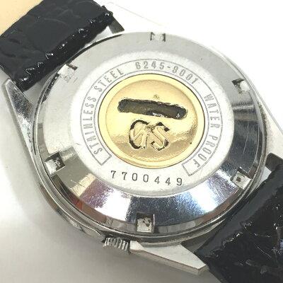 SEIKOセイコーグランドセイコーダイアショックメンズ腕時計SS初代自動巻き6245-9001アンティーク【中古】0601楽天カード分割