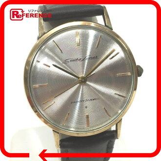 "Seiko liner diamond shock 23 stone lined men's watch hand vol K 14 k J14069 antique ""response."""