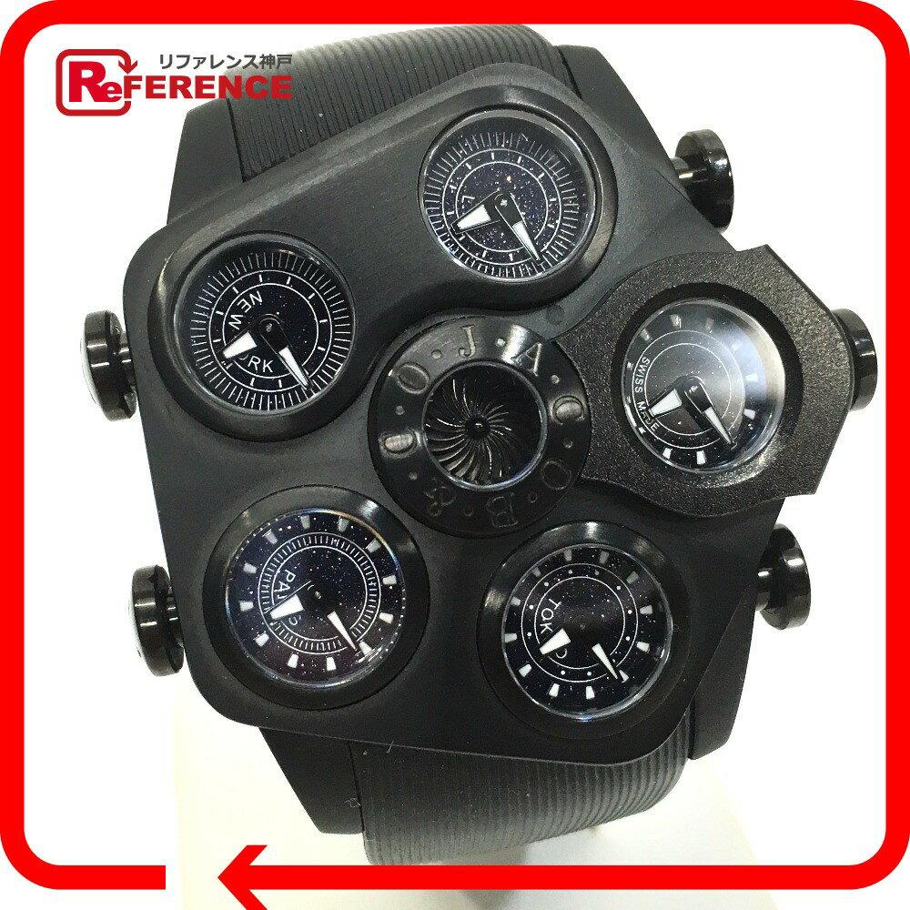 JACOB&CO ジェイコブ  JC-GR5-19 ファイブタイムゾーン G5 グランド 腕時計 SS/ラバー メンズ【中古】:ブランドショップ リファレンス