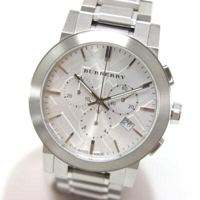 BURBERRYバーバリーBU9350クロノグラフシティ腕時計SSメンズ【】