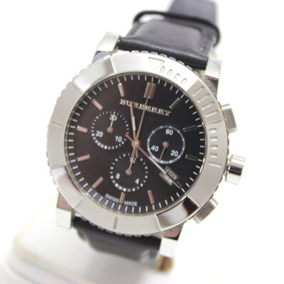BURBERRY バーバリー  BU2306 クロノグラフ 腕時計 SS/革ベルト メンズ【】