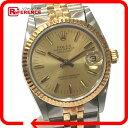 ROLEX ロレックス 68273 コンビ デイトジャスト 腕時計 SS/K18YG ゴールド ボーイズ【中古】