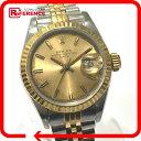 ROLEX ロレックス 69173 コンビ デイトジャスト 腕時計 K18YG/SS ゴールド レディース【中古】