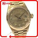 ROLEX ロレックス 79178G オートマチック腕時計 デイトジャスト 10Pダイヤ オイスターパーペチュアル 腕時計 K18YG/ダイヤモンド イエローゴールド レディース【中古】