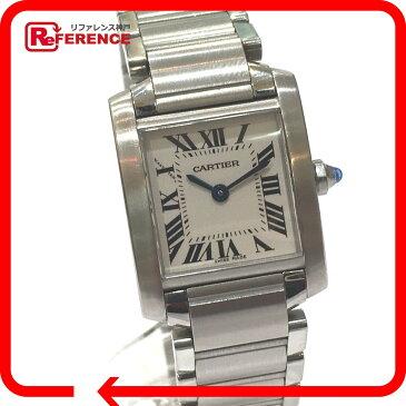 CARTIER カルティエ W51008Q3 ブレスレットウォッチ タンクフランセーズ SM レディース腕時計 腕時計 SS シルバー レディース【中古】