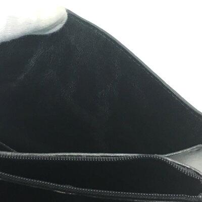 【JeanClaudeJitrois】クロコダイル2WAYハンドバッグショルダーバッグトートバッグ鞄黒ブラック【】
