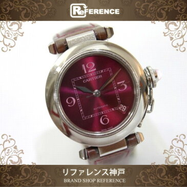 CARTIER カルティエ W3108299 レディース腕時計 2005年クリスマス限定 パシャC 腕時計 SS/クロコ革ベルト シルバー レディース【中古】