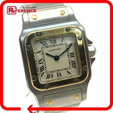 CARTIER カルティエ W20012C4 レディース腕時計 サントスガルベSM コンビ 腕時計 SS/YG シルバー レディース【中古】