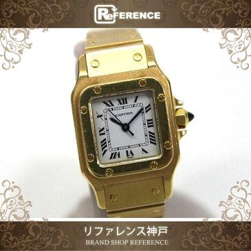 CARTIER カルティエ レディース腕時計 K18無垢 サントスガルベ 腕時計 K18 ゴールド レディース【中古】