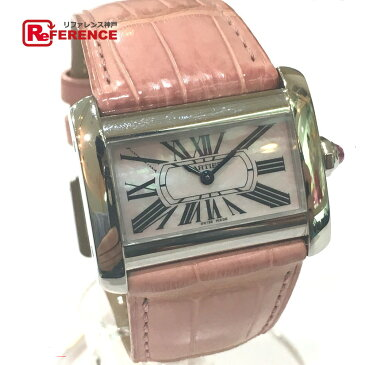 CARTIER カルティエ W6301455 レディース腕時計 ミニ タンクディヴァン 腕時計 SS/クロコ革ベルト シルバー レディース【中古】