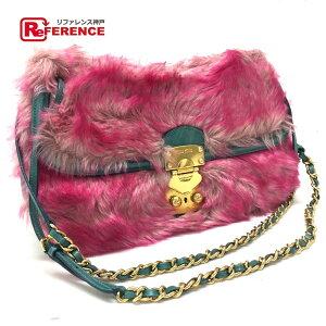MIUMIU Miu Miu RR1780 W链条单肩包单肩包人造皮草/皮革粉红色女士[二手]