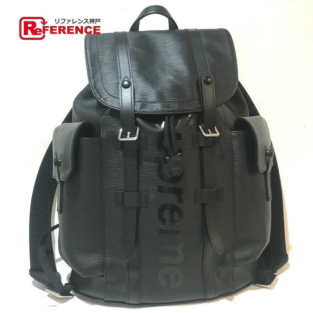 LOUIS VUITTON ルイ・ヴィトン M53413 17aw Supreme Louis Vuitton christopher backpack pm black エピ クリストファーPM バックパック ルイヴィトン×シュプリーム リュック・デイパック エピレザー ブラック 黒 メンズ【中古】