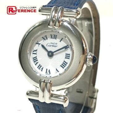 CARTIER カルティエ W1001665 レディース腕時計 マスト コリゼ 腕時計 SV925/革ベルト シルバー レディース 新品同様【中古】