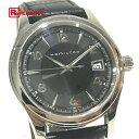 HAMILTON ハミルトン H18451735 メンズ腕時計 アメリカン クラシック ジャズマスター 腕時計 SS×革ベルト ブラック メンズ 新品同様【中古】