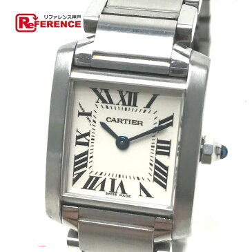 CARTIER カルティエ W51008Q3 レディース腕時計 タンクフランセーズSM 腕時計 SS シルバー レディース【中古】