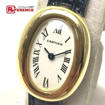 CARTIER カルティエ W1536699 レディース腕時計 ミニベニュワール 腕時計 K18YG ネイビー系 レディース【中古】