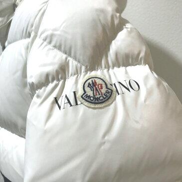 VALENTINO ヴァレンティノ QV0CN00ACUX VLTN ダウン アウター モンクレール 限定コラボ 2018-19AW ダウンジャケット ホワイト メンズ 未使用【中古】
