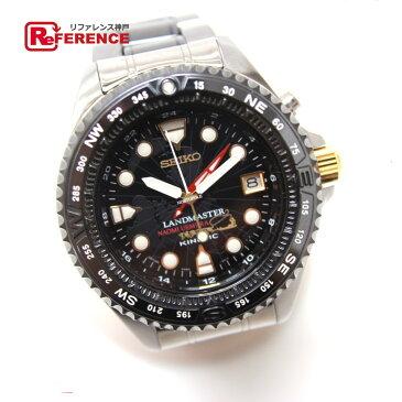 SEIKO セイコー 5M65-0A10 SBDW002 ランドマスター キネティック 植村直己限定モデル 蓄電型クォーツ時計 腕時計 チタン/セラミック シルバー メンズ【中古】