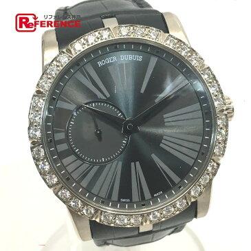 ROGER DUBUIS ロジェ・デュブイ RDDBEX0347 メンズ腕時計 裏スケ エクスカリバー42 金無垢 ダイヤベゼル 腕時計 K18WG/革ベルト/ダイヤモンド ホワイトゴールド メンズ【中古】
