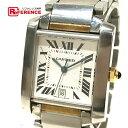 CARTIER カルティエ W51005Q4 タンクフランセーズLM コンビ デイト メンズ腕時計  ...