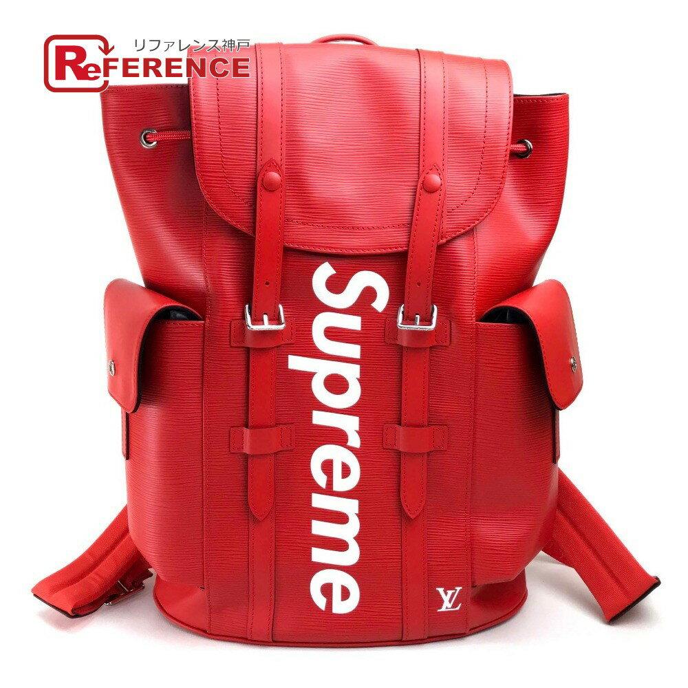 男女兼用バッグ, バックパック・リュック LOUIS VUITTON M53414 17AW Supreme Louis Vuitton christopher backpack pm red PM