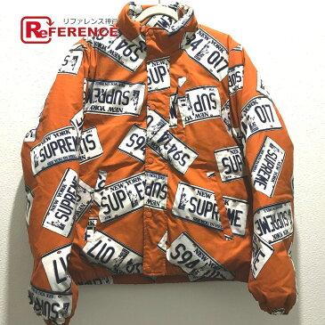 Supreme シュプリーム 17Aw License Plate Puffy Jacket ライセンス プレート パフィー ジャケット タグ有 ダウンジャケット コットン / ポリエステル オレンジ系 メンズ【中古】