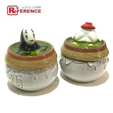 GHIBLI ジブリ 小物入れ 蓋付き のんびりお風呂小鉢 全2点セット 陶器 グレー系xマルチカラー ユニセックス【中古】