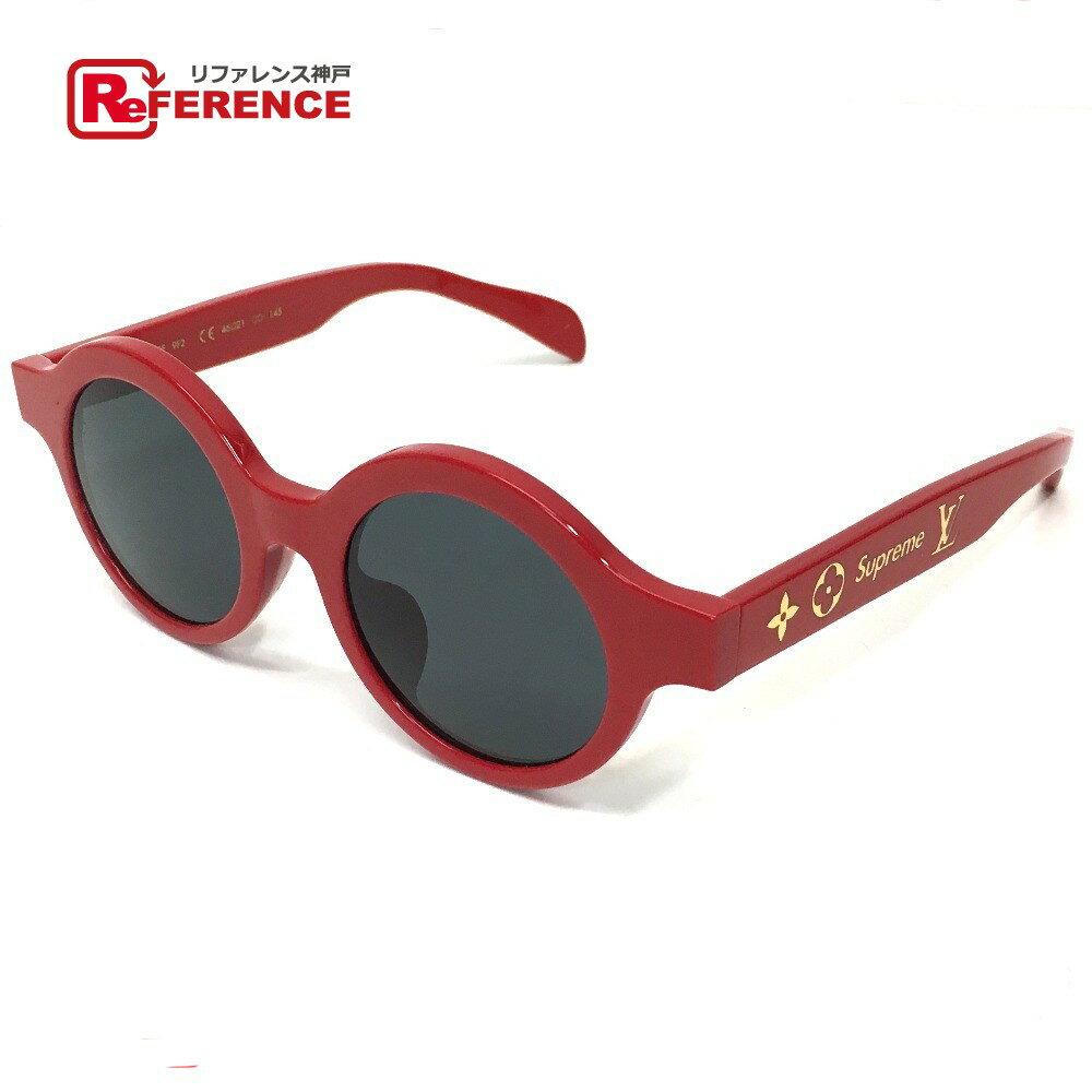 眼鏡・サングラス, サングラス LOUIS VUITTON Z0989 17aw Supreme Louis Vuitton ROUND (RED)