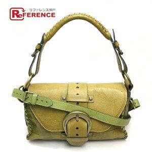 MULBERRY 2WAY сумочка PASADENA сумка через плечо кожа яблочно-зелёная зелёная [подержанный]